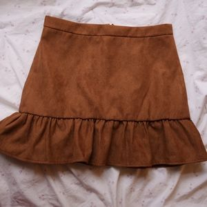 J.Crew  Suede Skirt (with tags!)